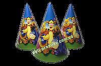 Колпак детский праздничный картонный Винни Пух (упаковка 20шт.)