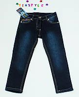 Очаровательные утепленные джинсы  для девочки на рост 110-122 см