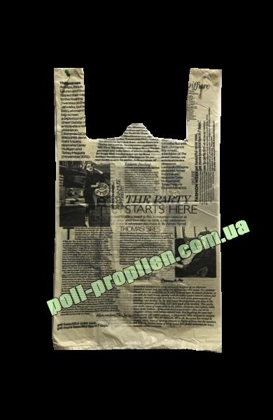 """Пакет майка, тип: """"Газета"""" 55х30 - Интернет-магазин """"Poli-propilen"""" в Черновцах"""