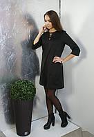 Платье Lavanda замшевое со шнуровкой