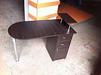 """""""Стандарт """" маникюрный стол с выдвижными ящиками, складной, с полкой на хром ножках"""
