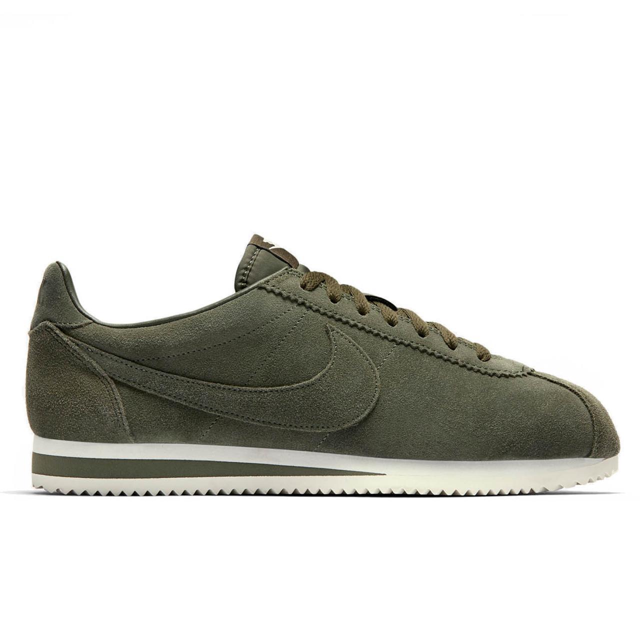 2e51766b616455 Оригинальные кроссовки Nike Classic Cortez SE Cargo Khaki White - Sport-Sneakers  - Оригинальные кроссовки