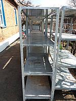 Стеллаж складской Б/У. Нагрузка до 80 кг на полку