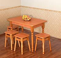 Кухонный комплект стол + 4 табурета Летро
