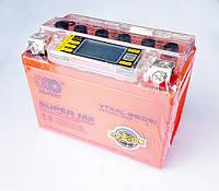 Мото аккумулятор АКБ 12V4A (GEL) с вольтметром (110x67х87)