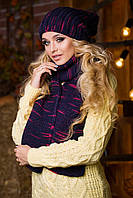 Комплект шапка с шарфом