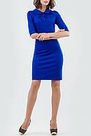 Платье футляр повседневное цвет электрик