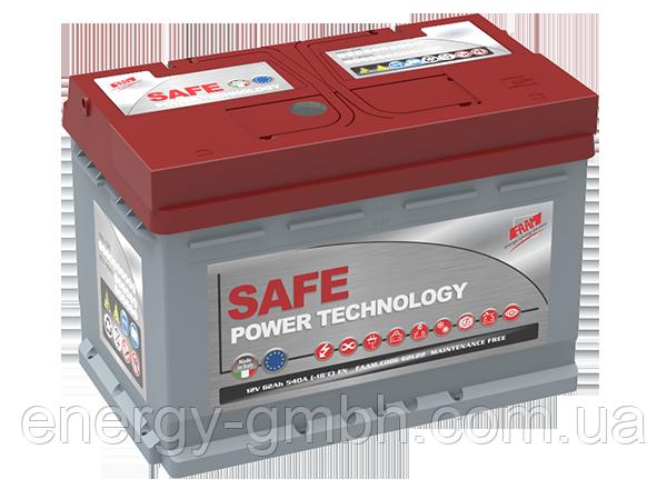 Стартерный аккумулятор FAAM серии Top Power Safe 6 СТ-55 R+