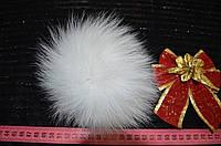 Помпон меховой (песец) белый