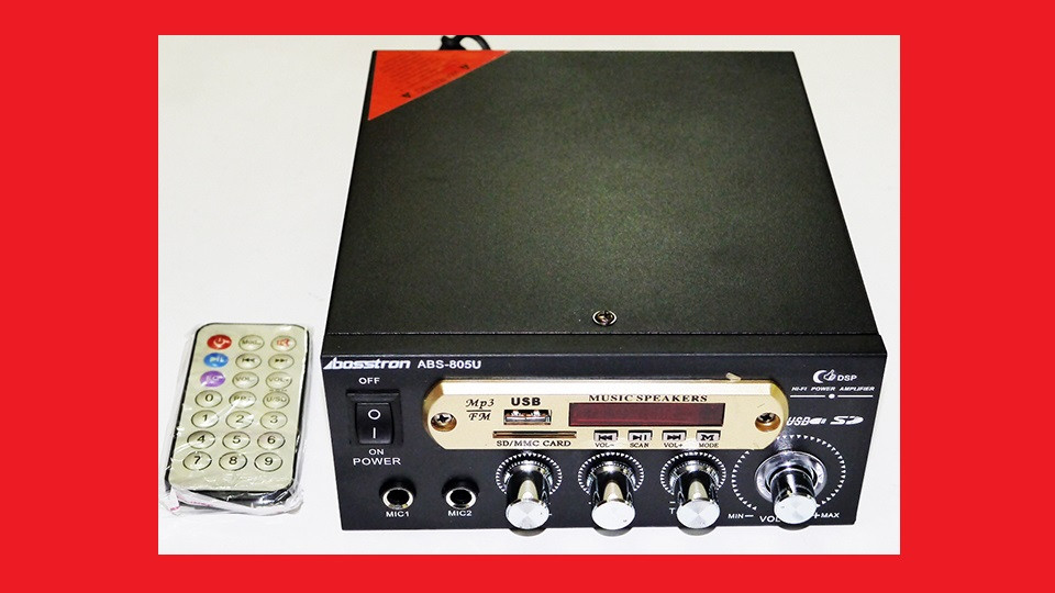 Bosstron ABS-805U Усилитель звука USB+SD+FM+Karaoke