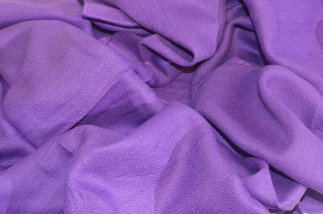 Палантин из кашемира однотонный фиолетовый Фото 3