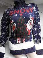 Зимний шерстяной свитер с Дедом Морозом