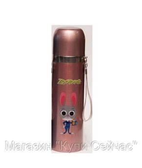 Термос детский YG-2 500ml ( термокружка,термос ),розовый!Акция, фото 3