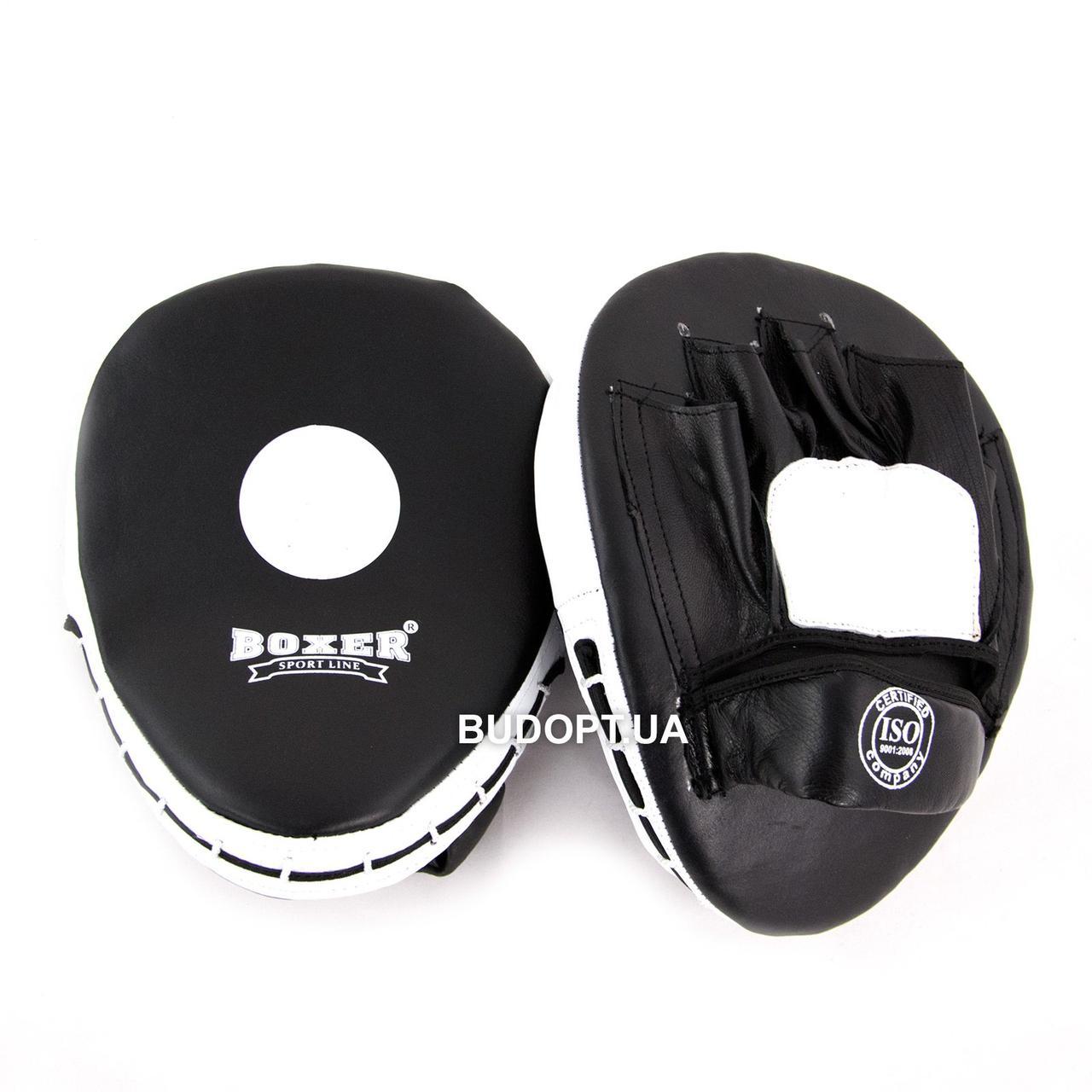 Лапы боксерские гнутые кожаные Boxer (bx-0024) - optom24.com.ua - оптовый интернет магазин в Одессе