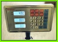 Торговые весы ACS 150KG FOLD 40*50 6V с железной головой!Акция