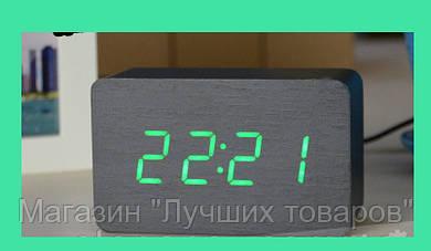 Часы электронные зеленые цифры. VST 863-4 Green clock 10 x 6 x 4!Акция