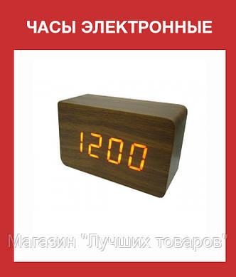 Часы электронные  зеленые цифры. VST 862-4 Green clock 15 x 7 x 4!Акция