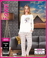 Оптом пижама женская Fawn, интерлок kod:0543