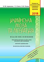 ЗНО 2018 Українська мова та література. Власні висловлення. Авраменко.
