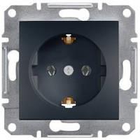 Розетка Schneider-Electric Asfora Plus с заземлением антрацит EPH2900171