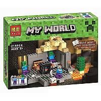 """Конструктор BELA Minecraft (219 деталей) серии My World 10390 """"Темница"""""""