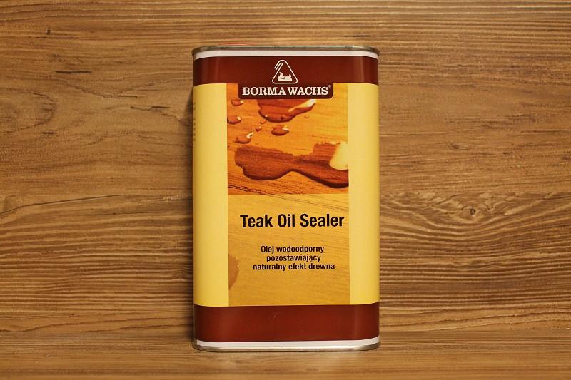 Масляное водостойкое покрытие с экстрактом тика, Teak Oil Sealer, Borma Wachs, Exterior Line, 1 литр