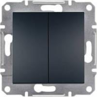 Выключатель Schneider-Electric Asfora Plus 2-клавишный антрацит EPH0300171