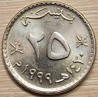 Монета Омана 25 байс 1999 г.