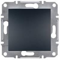 Переключатель Schneider-Electric Asfora Plus 1-клавишный проходной антрацит EPH0400171