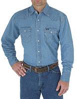 Джинсовая рубашка Wrangler Work Western - Stonewash