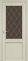 "Двери межкомнатные Корфад ""CL-02 ПО сатин"" со штапиком."