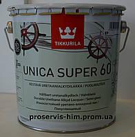 Уретано-алкидный полуглянцевый лак Уника Супер (Unica Super) 60 2,7л