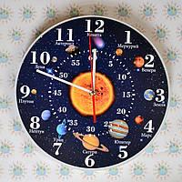 Часы настенные Солнечная система с минутным циферблатом