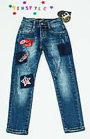 Очаровательные джинсы  для девочки на 6-8 лет