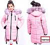 Модная зимняя куртка парка для девочки подростка Украина, фото 4