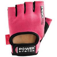 Перчатки для фитнеса Power System PRO GRIP PS 2250 L, розовый