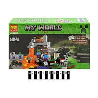 """Конструктор BELA Minecraft (251 деталей) серии My World 10174 """"Пещера"""""""