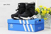 Зимние сапоги Adidas Equipment , чёрно белые