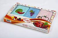 Набор кухонных махровых полотенец Vevien Mix 30*50 (3шт.)