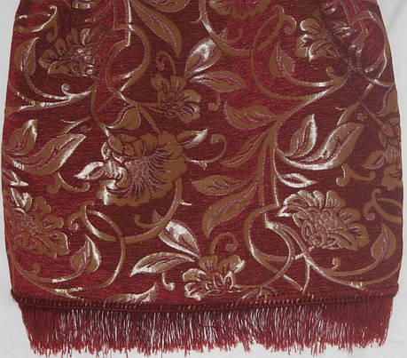 Покрывала двуспальные на диван и два кресла Орхидея бордового цвета, фото 2