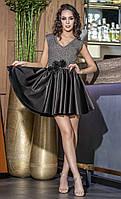 Женское нарядное платье с декольте и пышной юбкой Stella (разные цвета)