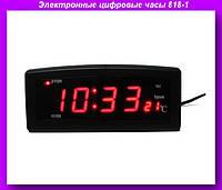 Часы 818 - 1, Электронные цифровые настольные часы 818-1,Часы сетевые  818-1 красные!Опт