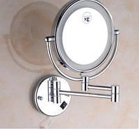 Зеркало подвесное с подсветкой в хроме 0469, фото 1
