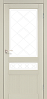 """Двери межкомнатные Корфад """"CL-04 ПО сатин"""" без штапика."""
