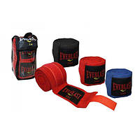 Боксерские бинты для бокса (2шт) Х-б ELAST BO-3729-3(BK)