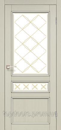"""Двери межкомнатные Корфад """"CL-05 ПО сатин"""" со штапиком., фото 2"""
