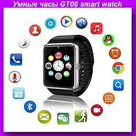 Умные часы GT08 smart watch,Умные часы smart watch,Часы Bluetooth,Смарт часы телефон!Опт