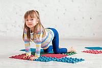 Детский массажный коврик пазл для стоп (ортопедический, резиновый) Onhillsport 4шт (MS-1209-1)