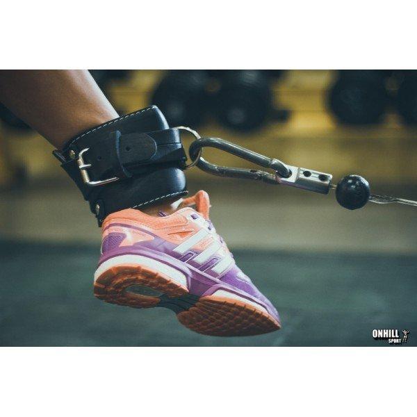 Манжета кожаная для ног, тяги на тренажере Onhillsport F8 (OS-0312) - ОСПОРТ - интернет магазин спортивных товаров в Львове