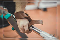 Лямки для турника, тяги и штанги (кистевые ремни) кожаные Onhillsport (OS-0310)